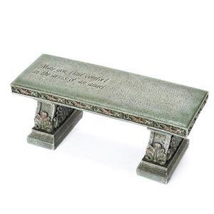 stone resin bench