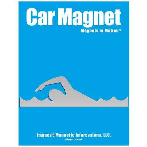 swimmer car magnet