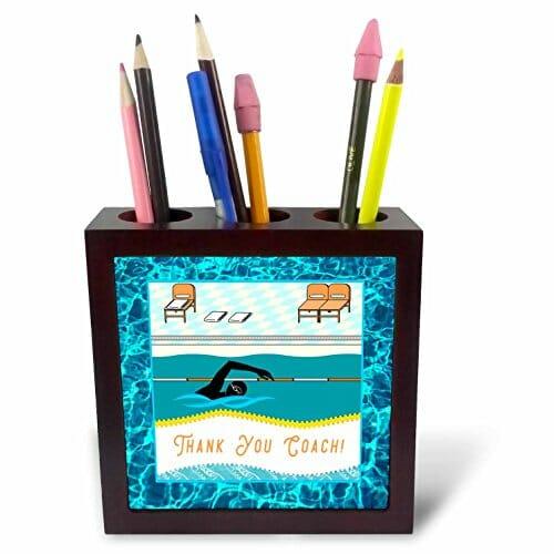 swimming themed pen holder