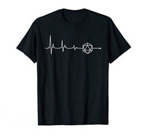 t-shirt minimalist d20 dice