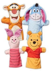 the pooh hand puppets