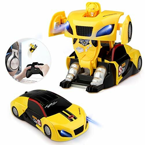 yellow transformer toy