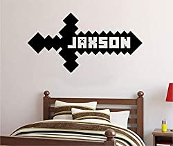 video gamer sword wall decal