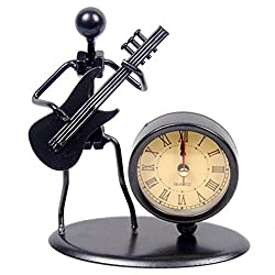 vintage iron musician clock
