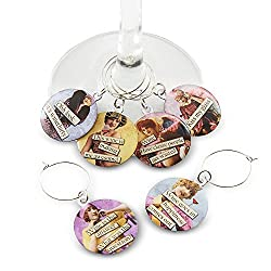 vintage women wine glass charms