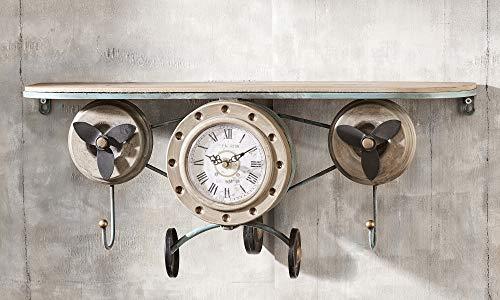 wall art clock shelf
