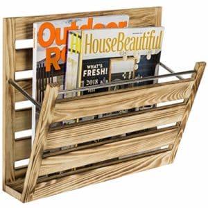 wall mountable mail magazine holder