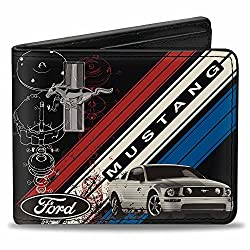 wallet mustang tri bar logo
