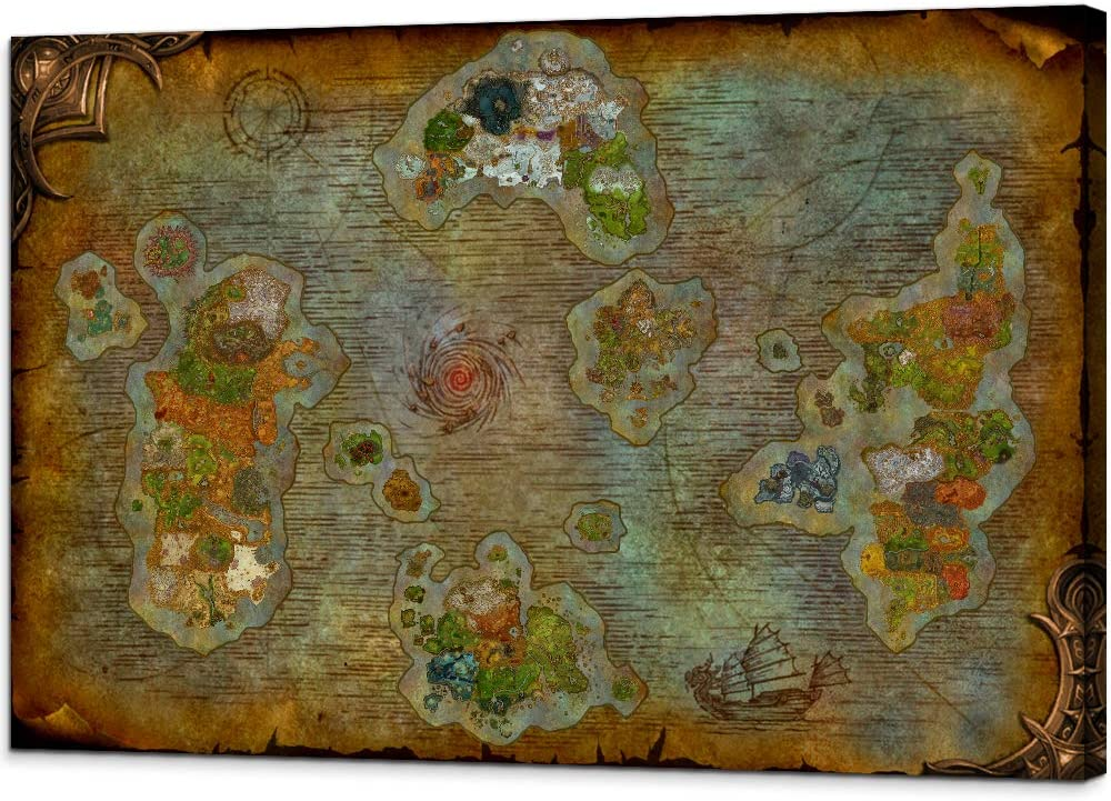 warcraft map wall art
