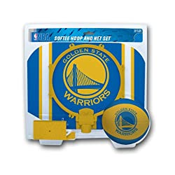 warriors branded ball and hoop