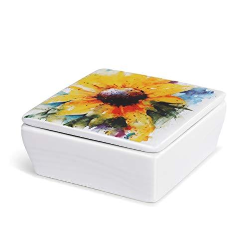 water color ceramic little box