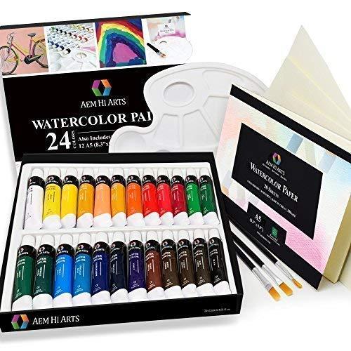 watercolor paint artist set