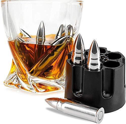 whiskey bullet stones set of 6 with freezer base