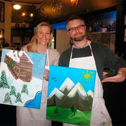 wine and painting class