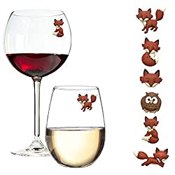 wine glass charms magnets