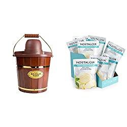 wood bucket ice cream maker