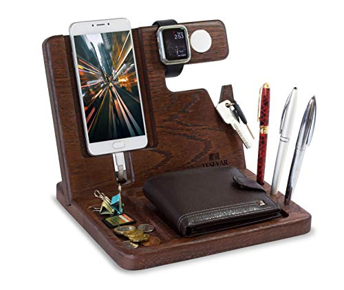 wood phone organizer