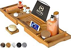 wooden bathtub caddy tray