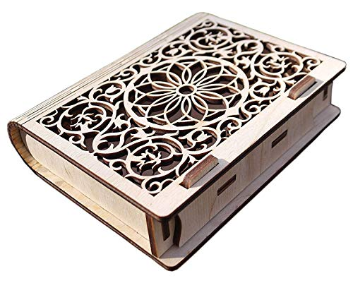 wooden book jewelry box