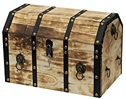 wooden decorative pirate trunk
