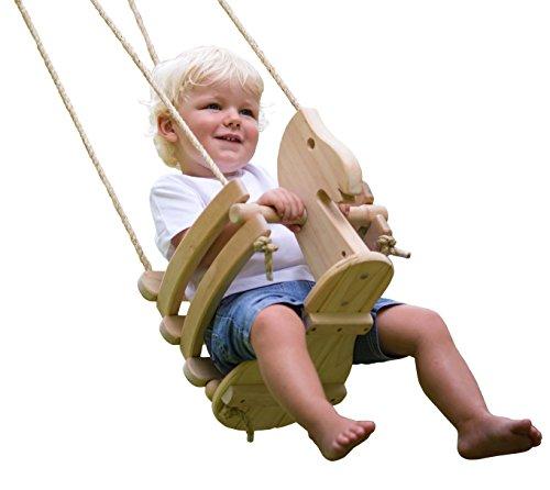wooden horse toddler swing set