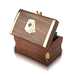 wooden playing cards box