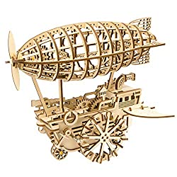 wooden puzzle airship