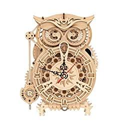 wooden puzzle owl clock