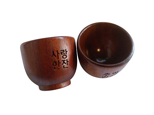 wooden soju cups