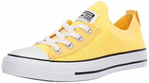 yellow color converse sneakers