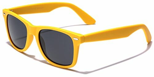 yellow fashion sunglasses