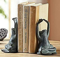 yoga frogs bookends
